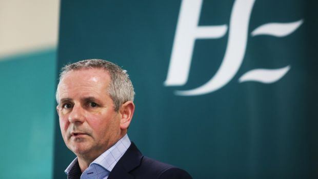 Chief Executive of the HSE Paul Reid at a media briefing. Photograph: Sam Boal/Photocall Ireland