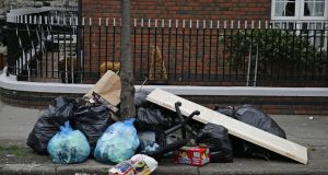 The two dirtiest places in the State were in Dublin, with Ballymun and the north inner city both ranked as 'seriously littered'. Photograph: Nick Bradshaw for The Irish Times