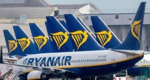 Ryanair closed down 4% in Dublin