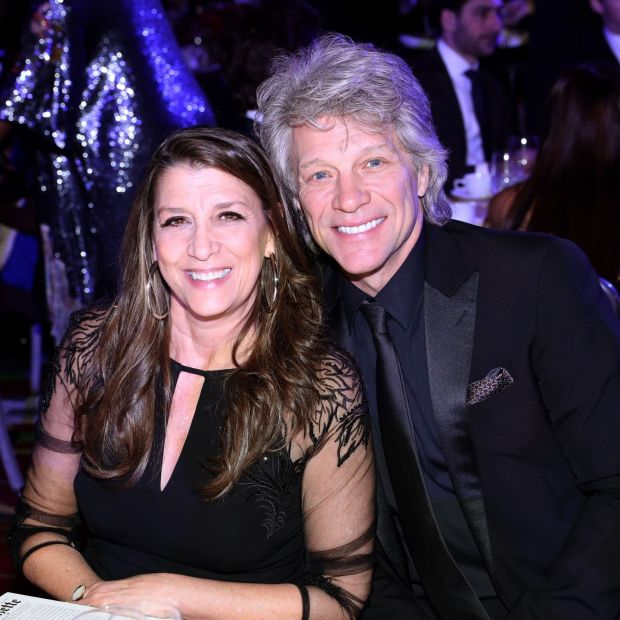 Dorothea Hurley and Jon Bon Jovi accept attend Jackie Robinson Foundation Robie Awards Dinner at Marriot Marquis on March 2nd, 2020 in New York City. Photograph: Bennett Raglin/Getty Images for Jackie Robinson Foundation