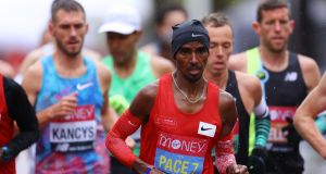 Mo Farah said on Tuesday that athletes have been told they will be vaccinated before the Olympics. Photo: Richard Heathcote/Getty Images