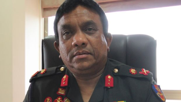 Major General Dharshana Hettiarachchi who oversaw the rehabilitation of thousands of former Tamil insurgents. Photograph: Tom Farrell