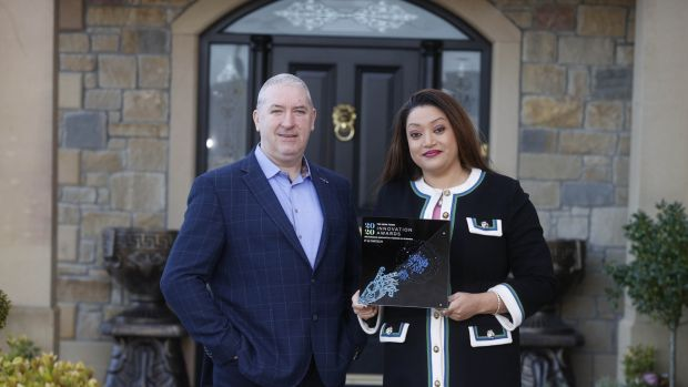 Noel and Valerie Moran, founders of eCOMM Merchant Solutions. Photograph: Conor McCabe
