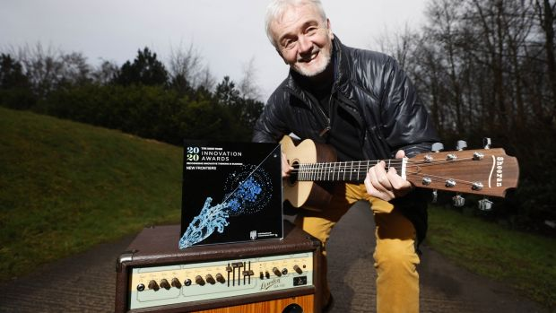 George Lowden of George Lowden Guitars uses aerospace technology to devlop new line of guitars. Photograph: Conor McCabe