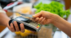 Daily volumes of contactless payments rose to 2.1 million per day, surpassing the previous peak in September. File photograph: Getty