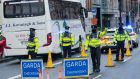 A Garda checkpoint in Dublin recently. Photograph: Collins