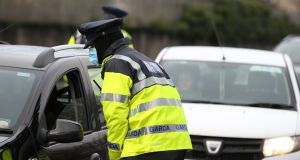 Garda checkpoints on the Dublin to Westmeath road last week. File photograph: Stephen Collins/Collins Photos
