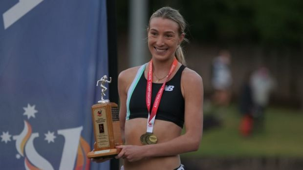 Rose Davies won the 10,000m at the Zatopek in Melbourne.