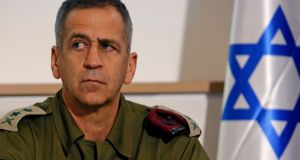 Lt Gen Aviv Kochavi: Several  Israeli defence officials criticised the fact he commented publicly and not behind closed doors. Photograph:  Gil Cohen-Magen/AFP