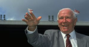 Sir Matt Busby in 1991: 'I was in awe of him. Amazingly intelligent and cunning. Very hard and charming.' Photograph: Ben Radford/Allsport/Getty Images