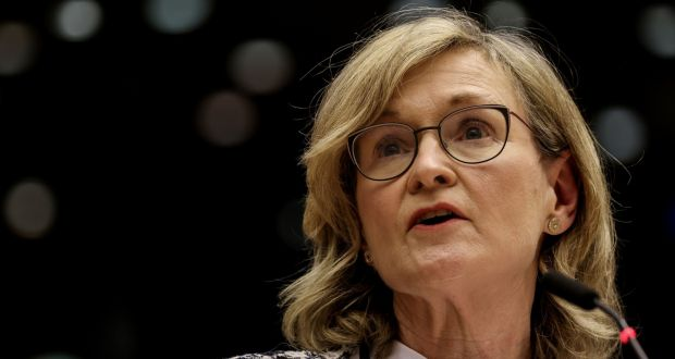 EU Commissioner in charge of Financial Services, Financial Stability and the Capital Markets Union Mairead McGuinness. Photograph:  Kenzo Tribouillard/Pool/AFP via Getty Images)