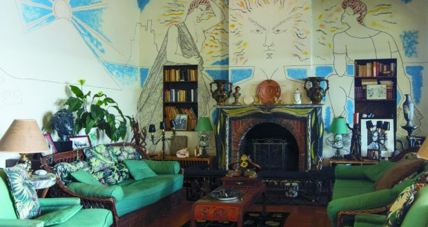 Villa Santo Sospir,  where Jean Cocteau stayed and painted murals throughout. Photograph:  Marina Melia/Villa Santo Sospir DACS/Comit Cocteau