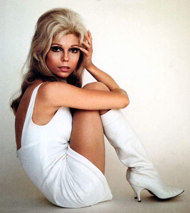 Nancy Sinatra had a head-to-toe makeover. She went blonde, and embraced the British fashion of mini-skirts and Mary Quant silhouettes. Photograph: GAB Archive/Redferns