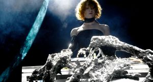 Sophie performing on stage at Coachella in 2019. Photograph: Scott Dudelson/Getty Images