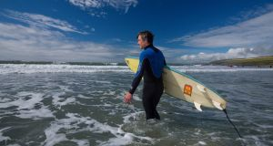 The first phase of Fáilte Ireland's €55m Tourism Business Continuity Scheme will be launched this month, with a focus on outdoor businesses such as surfing. Photograph: Brian Morrison