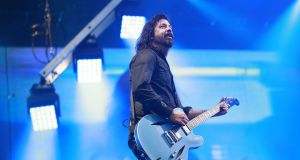 Dave Grohl of Foo Fighters playing the RDS in August 2019. Photograph: Nick Bradshaw