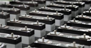 "Lithium-ion battery cells: Some commodity traders describe lithium as the new ""white gold"", as worldwide demand has accelerated due to EV batteries. Photograph: Tomohiro Ohsumi/Bloomberg"