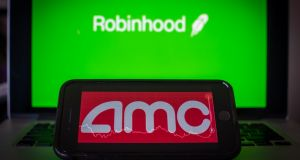 Robinhood was hit by a surge in trading last week as retail investors bet against short sellers, driving up the price of companies such as GameStop and AMC. Photograph: Tiffany Hagler-Geard/Bloomberg