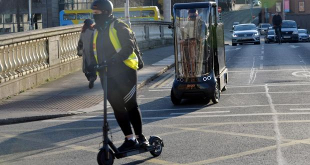 The plan is for a new vehicle category, powered personal transporters, which will be legal to use in public but within a new safety framework. Photograph: Alan Betson