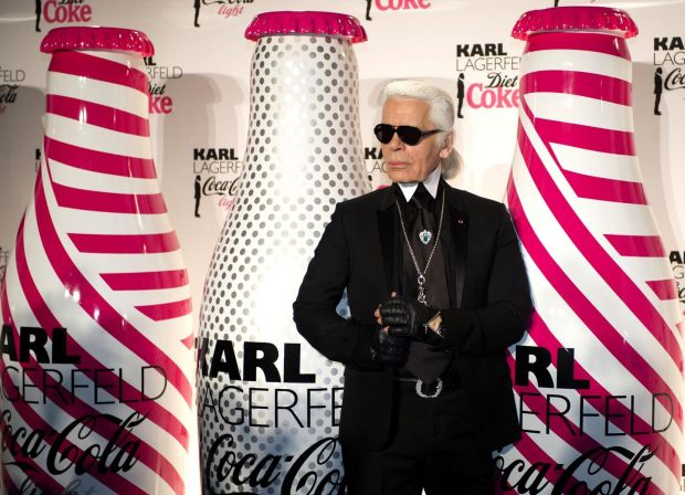 'It leaned heavily into its association with the fashion world': the late Karl Lagerfeld, a one-time Diet Coke creative director. Photograph: Bertrand Langlois/AFP via Getty