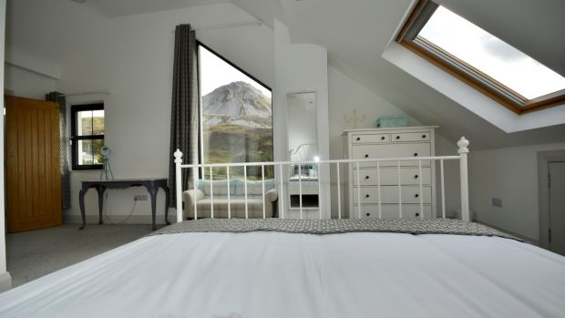 One of Errigal House's four bedrooms.