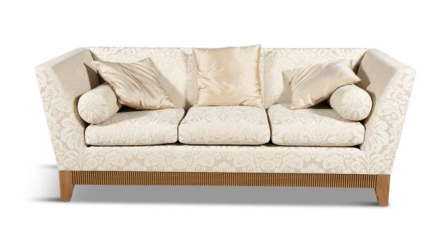 One of a pair of three seater sofas by David Linley (€1,500-€2,500 each)