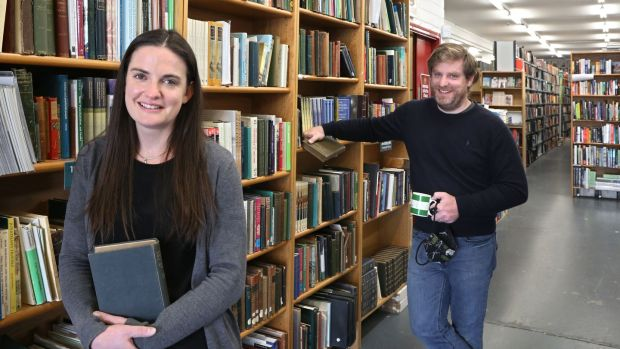 "Sara and Tom Kenny in Kenny's bookshop in Galway.""It doesn't matter what the reality actually is; people are going to default to Amazon."" Photograph: Joe O'Shaughnessy"