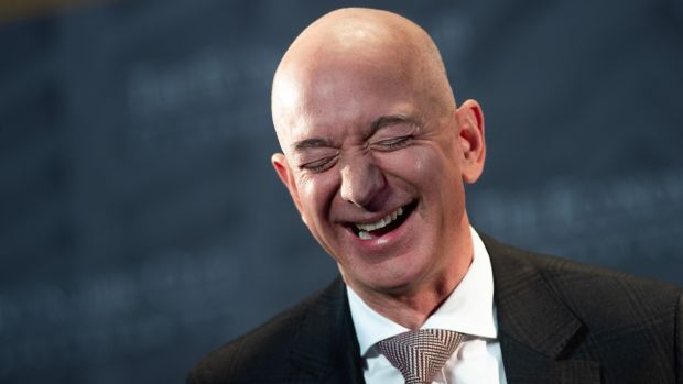 Jeff Bezos: this week he announced he is stepping down as chief executive of Amazon, but he is not actually going anywhere. Photograph: Getty Images
