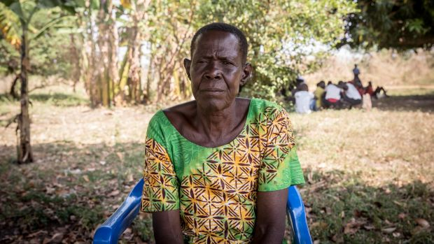 Ladu Cecelia, an aunt who said she acted as a mother to Dominic Ongwen after his own was killed, says she wants to visit him in Europe. Photograph: Sally Hayden.