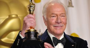 Christopher Plummer holds his Oscar for best actor in a supporting role for Beginners in the press room at the 84th Annual Academy Awards in Hollywood, California in February 2012. Photograph: Joe Klamar/AFP via Getty Images