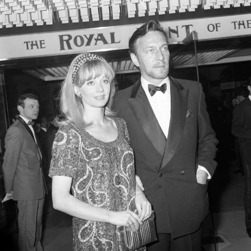 Christopher Plummer, arrives with Elaine Taylor at the Odeon, St Martin's Lane, for the charity world premiere of The Royal Hunt of the Sun on October 2nd, 1969. Photograph: PA/PA Wire