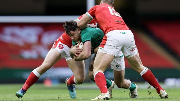Andrew Porter était l'un des nombreux joueurs irlandais à avoir participé dimanche à un grand match contre le Pays de Galles.  Photo: Laszlo Ceso / Infos