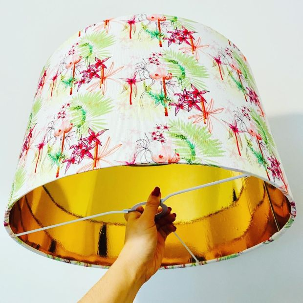 A lamp from Grainne Maher's Lady Garden collection