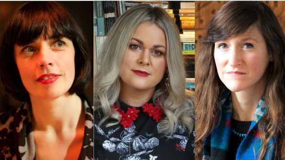 Left to right: Doireann Ní Ghríofa, Elaine Feeney and Sara Baume. Photographs: Pat Boran; Joe O'Shaughnessy; Leonardo Cendamo/Getty