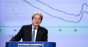 "Paolo Gentiloni, the EU's economics commissioner. ""As increasing numbers are vaccinated over the coming months, an easing of containment measures should allow for a strengthening rebound over the spring and summer."" Photograph: AFP"