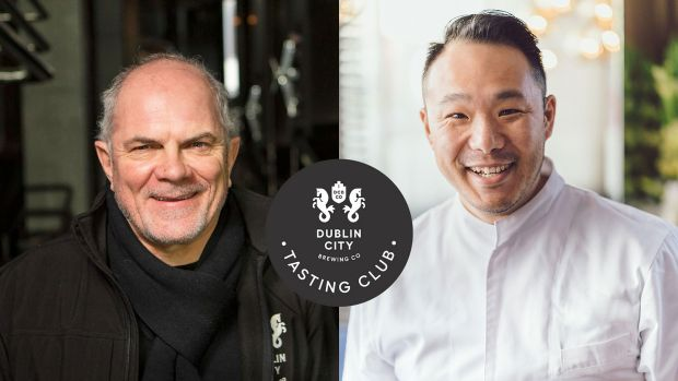 Head brewer Fergal Murray and chef Kwanghi Chan