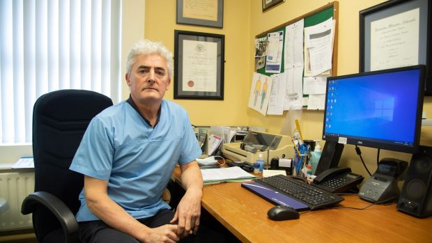 Dr Martin Coyne in his surgery in Lifford, Co Donegal. Photograph: Joe Dunne