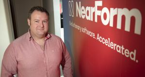 NearForm co-founder and chief executive Cian Ó Maidín. The Irish company counts the New York Times, IBM, Microsoft and Condé Nast among its paying customers. Photograph: Maura Hickey