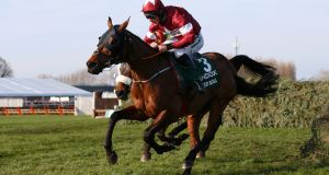 Tiger Roll is bidding for a Grand National hat-trick at Aintree. Photograph: Alex Livesey/Getty