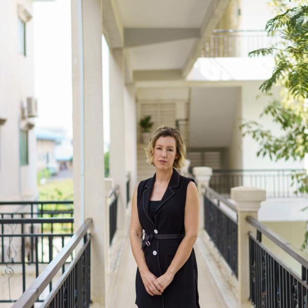 Dr Jessica Manning at the National Centre for Parasitology, Entomology and Malaria Control in Phnom Penh. Photograph: Thomas Cristofoletti/New York Times