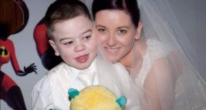 "Geraldine Renton with Ethan who died aged 18 from Hunter syndrome. ""It was a lonely funeral. There were people trying to give you affection and they couldn't."""