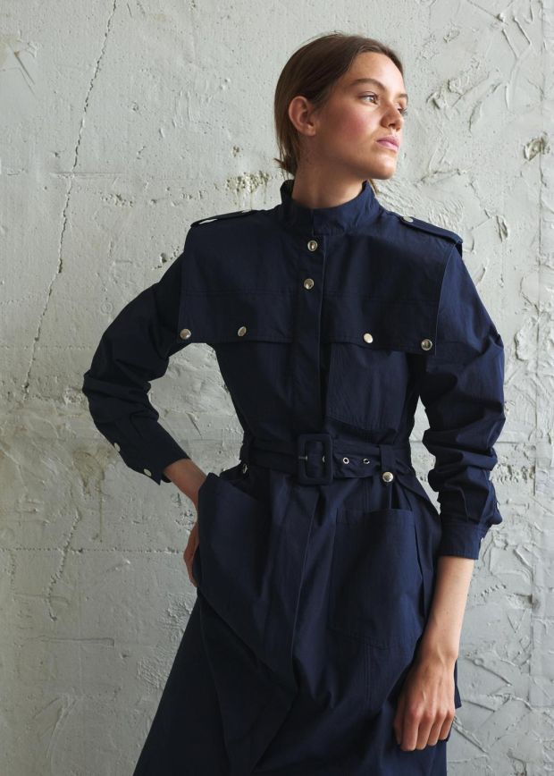 Navy dress €200 by Gestuz at Arnotts.ie