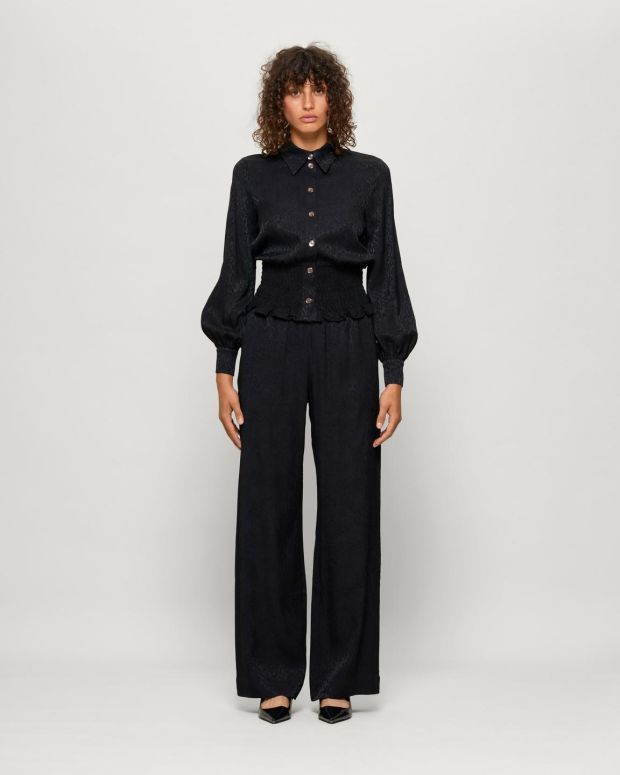 Norina trousers €189 and Maeko shirt €169, baumundpfergarten.com and macbees.ie