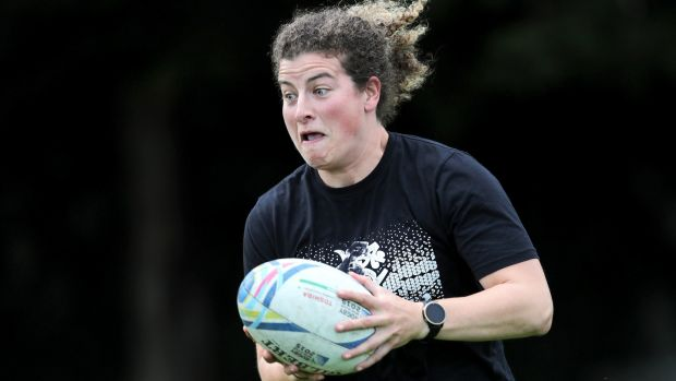 Jenny Murphy trains with Old Belvedere in Dublin in July, 2020. Photograph: Laszlo Geczo/INPHO