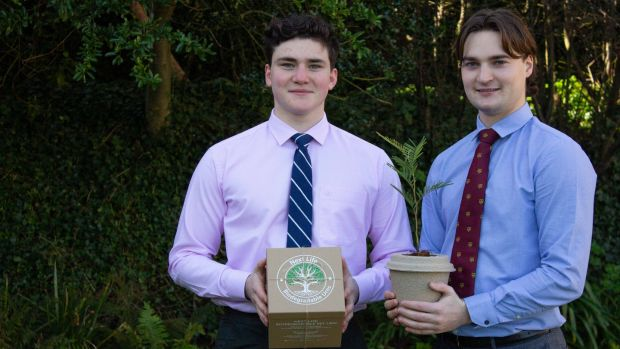 Ralph Fenelon (22) and Marcus Jankola (19) are the founders of eco-friendly Next Life pet urns