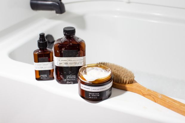 Crabtree and Evelyn Spiced Honey Bath Syrup.