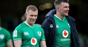 Ireland's Keith Earls and Peter O'Mahony: both players have been offered new contracts with the IRFU. Photograph: Bryan Keane/Inpho