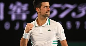 Novak Djokovic is into the Australian Open final. Photograph: Dean Lewis/EPA