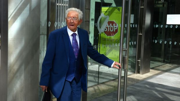 Sil Fox attending the Dublin District Courts. Photograph: Dara Mac Dónaill / The Irish Times