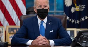US president Joe Biden: understands the complexities of securing congressional support for legislative packages. Photograph:  Saul Loeb/AFP via Getty Images